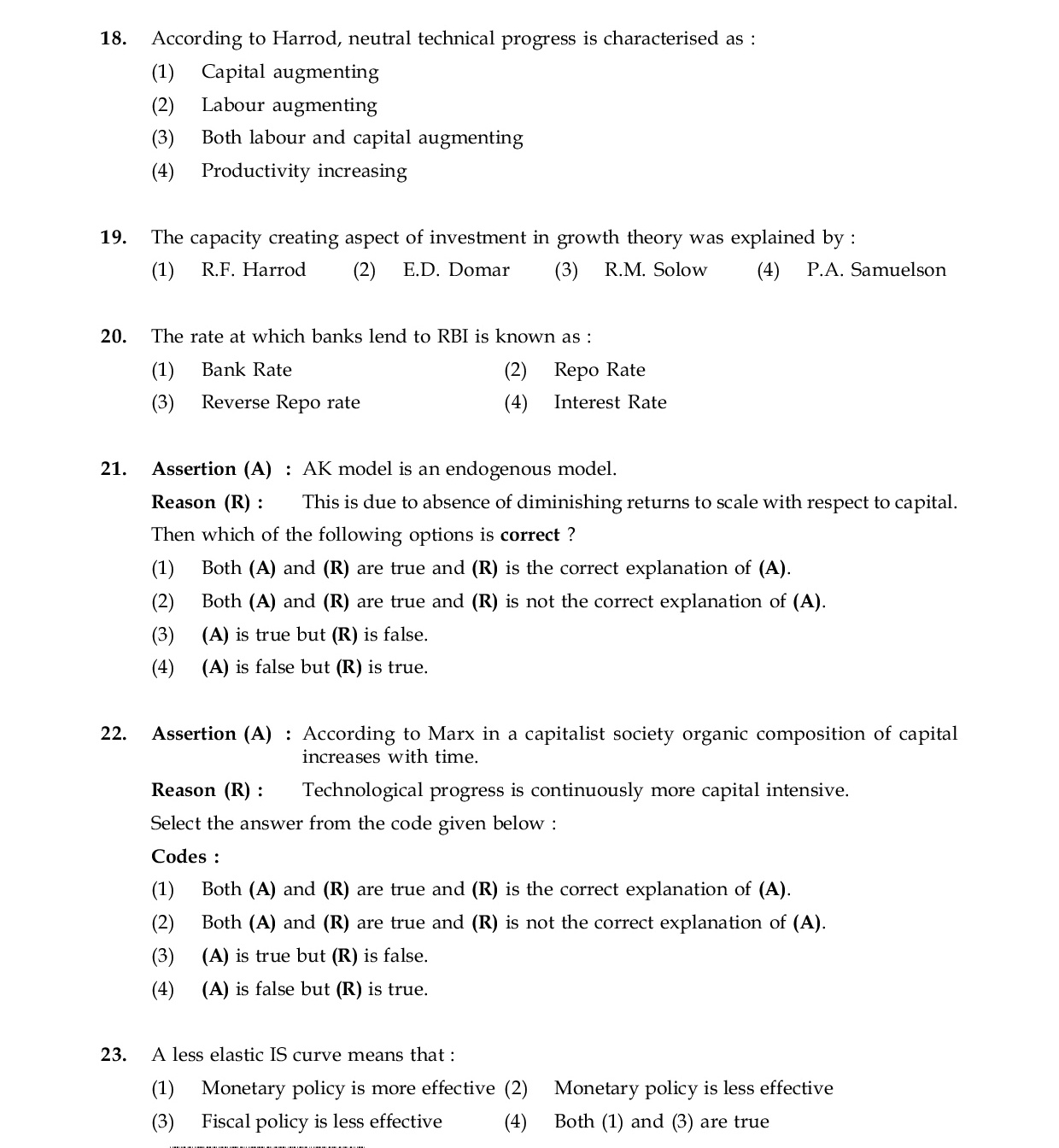 mock test on monetary economics new Chapter 1 what is economics test bank  come up with new ideas about what, how, when and where to produce d)organize labor, land, and capital 28)  the monetary costs of an activity d)the accounting cost minus the marginal cost 43) 44)the opportunity cost of any action is.
