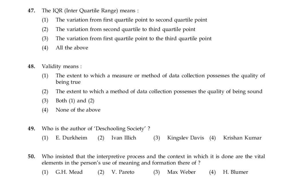 Record Your Answers in the OMR Sheet